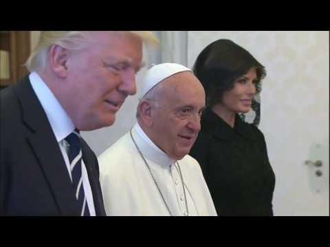 Donald Trump meets Pope Francis at the Vatican