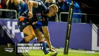 Guinness PRO14 Round 15 Highlights: Edinburgh Rugby v Dragons