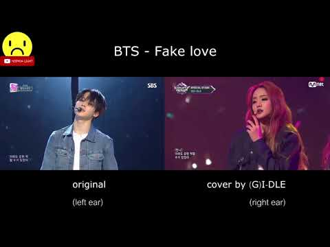 BTS - Fake love (Original & (G)I-DLE Comparison)