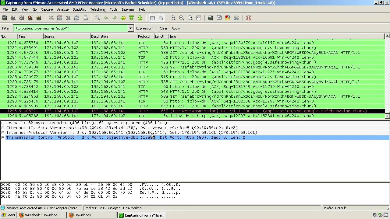 Tutorial: Ripping MP3 streams from websites using Wireshark