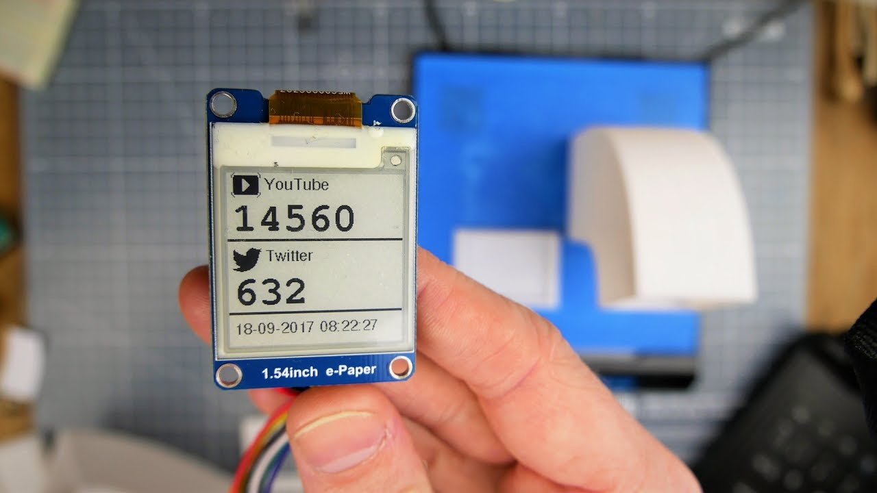 Images and Text on the Waveshare 1 54inch e-Paper Display