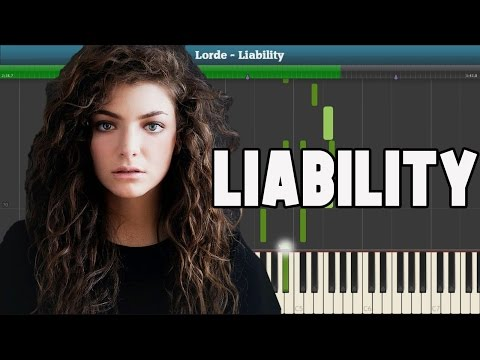 Liability Piano Tutorial - Free Sheet Music (Lorde)