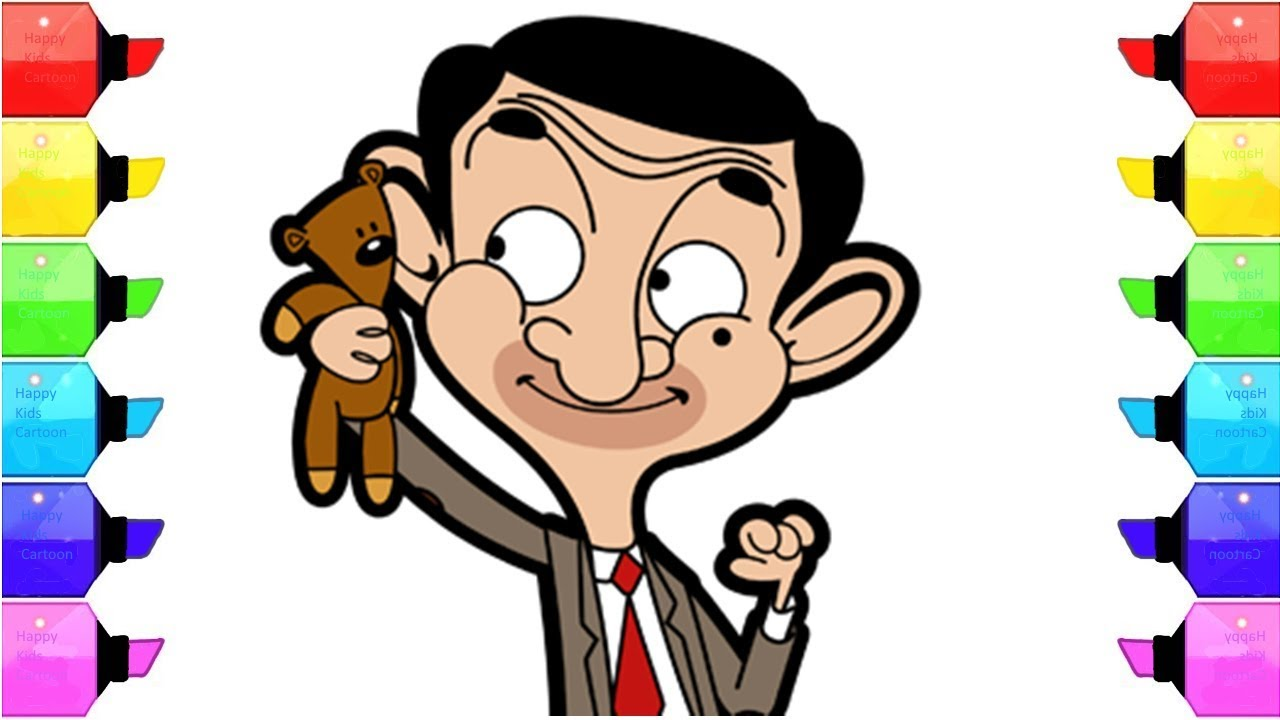 Mr Bean The Animated Series Of Coloring Pages Coloring Book For