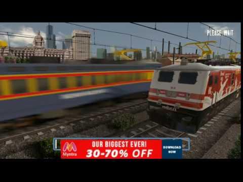 Chennai to Agra inside high speed Dual Loco WDP 4 Indian Train Simulator