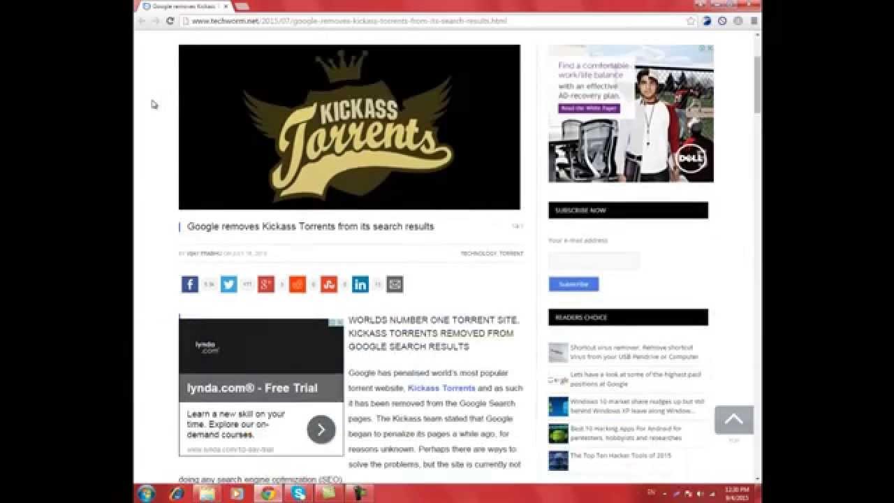 *Latest* Kickass Proxy – List of 50 very fast Kickass Torrents Proxies & Mirror Sites