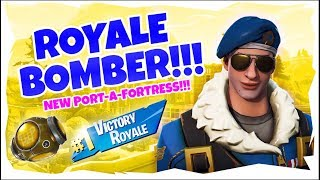 HOW TO GET THE ROYALE BOMBER | GAMEPLAY WITH ROYALE BOMBER [Fortnite: Battle Royale]