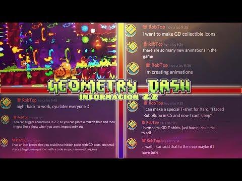 ¡Las Nuevas Noticias y Novedades De Geometry Dash 2.2 Confirmado Por RobTop!