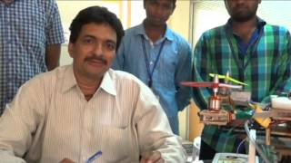 srkr engineering college bhimavaram mechanical project arial pesticide sprayer 2015