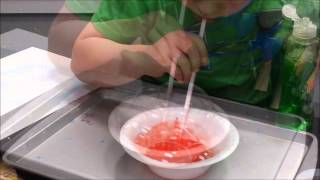 How To Make Bubble Prints { Kids' Science + Art Activities }