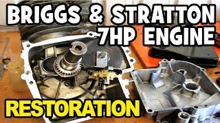Briggs and Stratton 7hp Engine Rebuild from Start to Finish