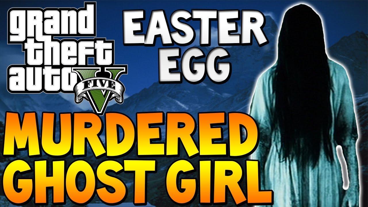 """GTA 5 - """"MURDERED GHOST GIRL"""" Easter Egg """"GTA V SCARY ..."""