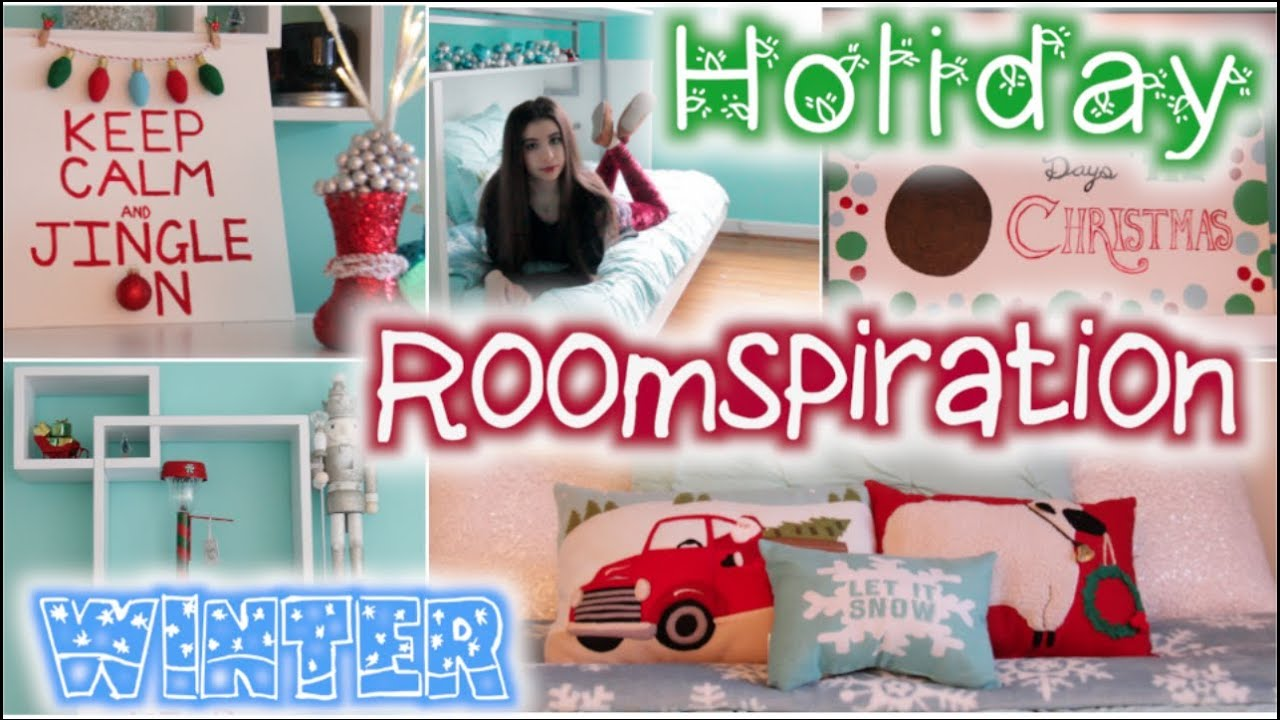 roomspiration 6 easy diys decorating my room for christmas winter beautytakeni youtube - How To Decorate Your Bedroom For Christmas