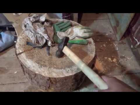 The best way to attach an ax, hammer or sledge hammer to a wooden handle.
