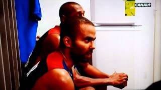 Tony parker à la mi-temps france-espagne 1/2 final