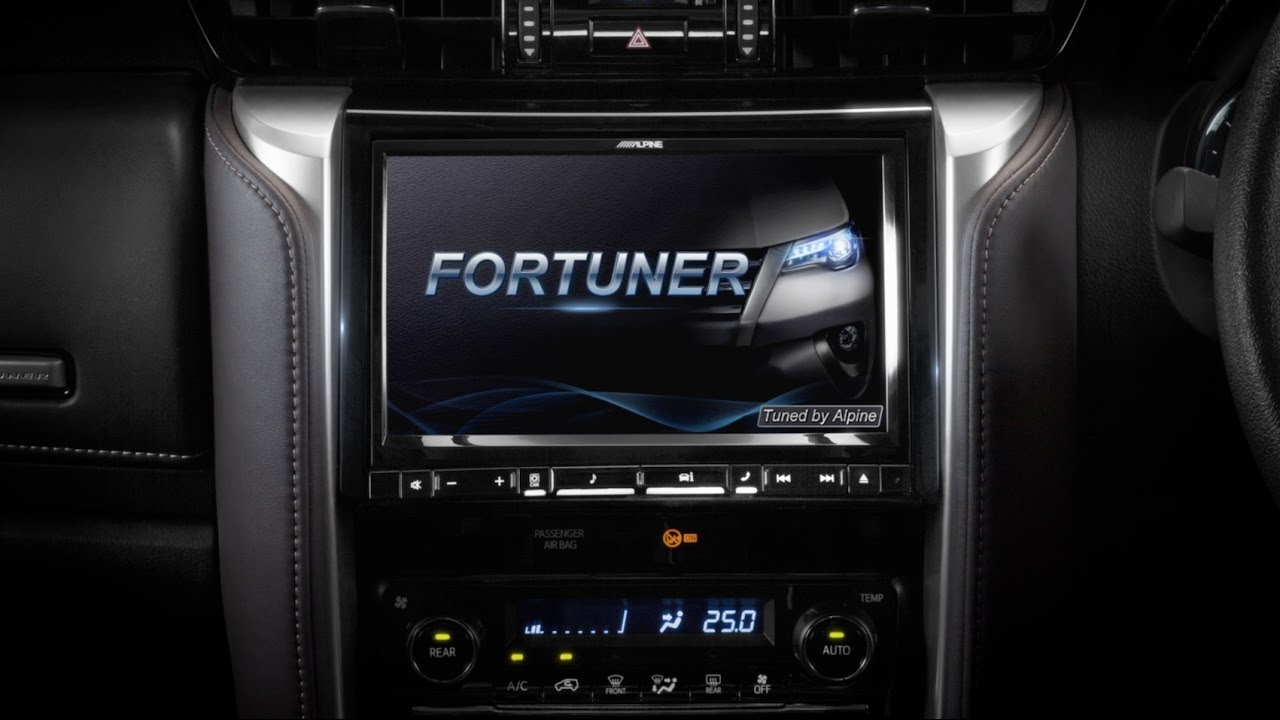 Alpine Style New 9inch Multimedia Head Unit For Toyota Fortuner 2015 Youtube