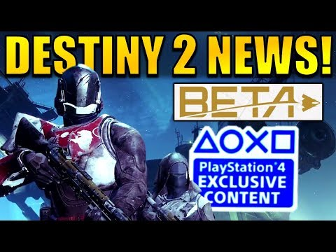 HUGE Destiny 2 News: BETA DATE, New Exotics, PC Release Date, PS4 Exclusives, & MORE!