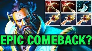 EPIC COMEBACK VS MEGACREEPS? SingSing Plays Kunkka With 3 divines - Dota 2