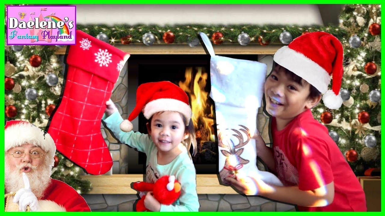 Santa Christmas Stockings Presents - Will Santa Claus Visit Tonight ...