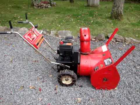 TOPFLITE MODEL 524 SNOWBLOWER THROWER 4 SALE ON EBAY 9 30 2009