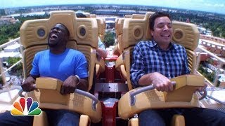 Repeat youtube video Jimmy and Kevin Hart Ride a Roller Coaster