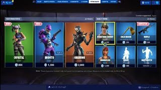 Fortnite Item Shop 8/3/19 *NEW* BRONTO AND CRYSTAL OUTFITS