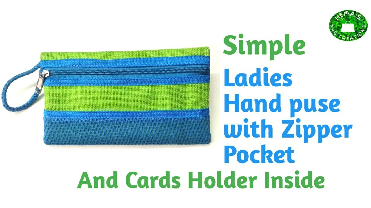 DIY How To Stitch #handpurse/Jute Purse With Zipper Pocket&Cards Holder #sewing Tutorial#ladiespurse