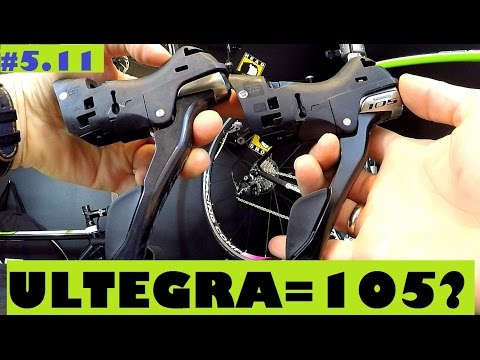 Shimano Ultegra ST-6800 shifters vs. 105 ST-5800. Are they really different? SickBiker Review.