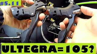 shimano ultegra st 6800 shifters vs 105 st 5800 are they really different review