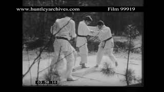 Judo in the Woods.  Archive film 99919