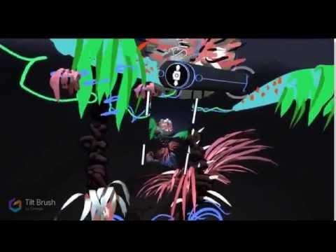 ABTRACT-ARTIST-FREESTYLE with GOOGLE TILT BRUSH ( oculus rift ) 3D