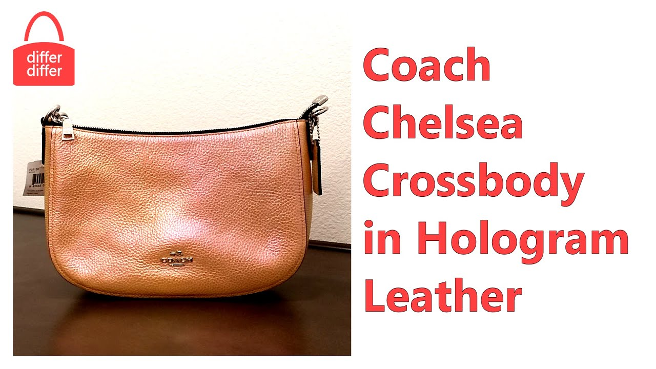 01a50a1288 Coach Chelsea Crossbody in Hologram Leather 37158 - YouTube