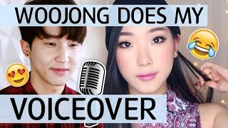 WOOJONG DOES MY VOICE OVER - Natural Smokey Makeup Tutorial - MONOLIDS/HOODED EYES ft. Sanai Woojong