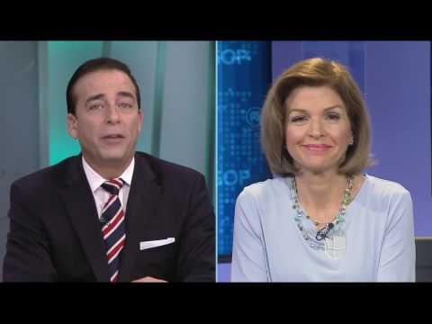 Helen Aguirre Ferre en Al Punto Florida con Ambrosio Hernandez