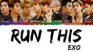 I'm wrong with suho's name, sorry :( by. hylyrics x exo (엑소) run this lyrics color coded [jpn/rom/eng] hi, i hope you like it thanks for watching! please lik...