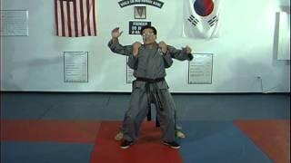Hapkido Rear Under Shoulder Grab Techniques 1 thru 3
