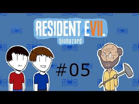 2 People Play - Resident Evil 7 #5 - Creepy Teleporting old lady, how is he alive!!
