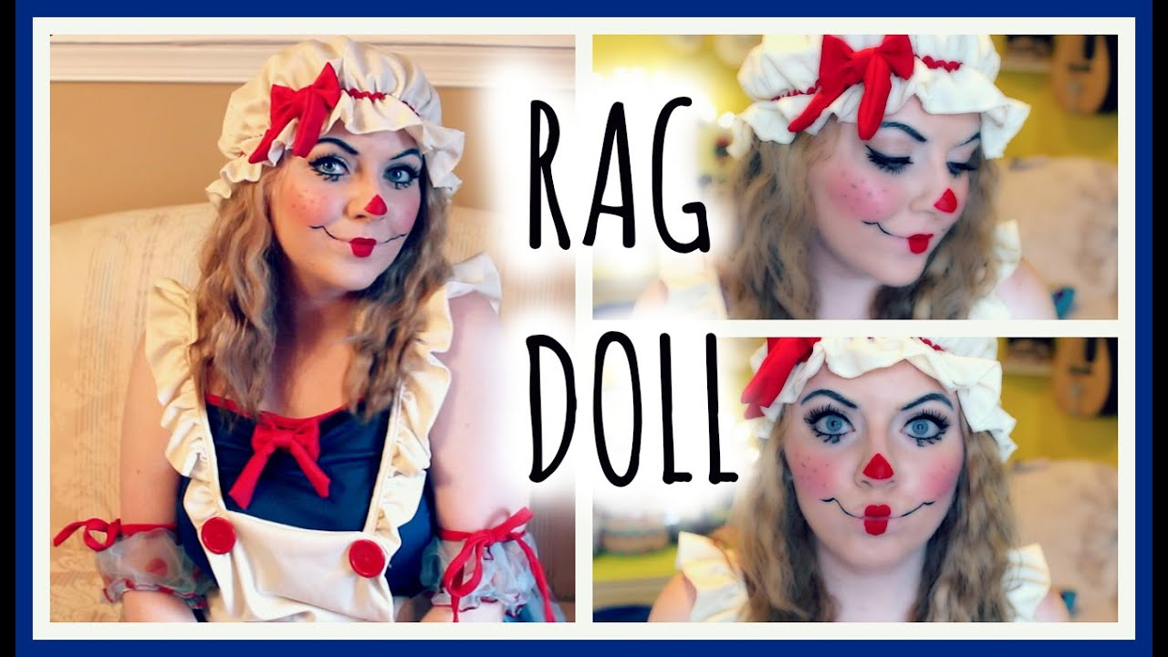 Rag Doll Makeup Tutorial & Costume - YouTube