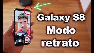 Modo retrato cámara frontal Samsung Galaxy S8