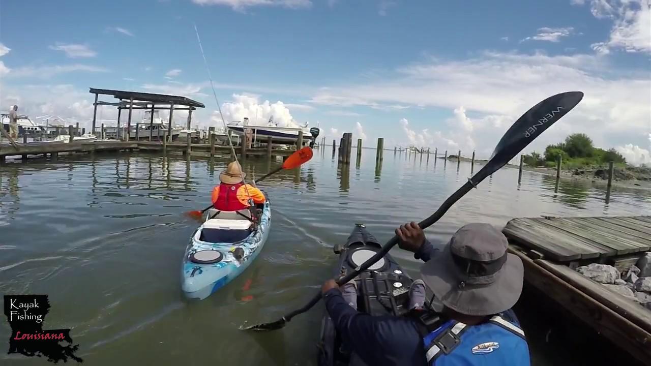 Kayak fishing louisiana grand isle redfish youtube for Kayak fishing louisiana