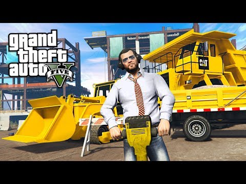 GTA 5 Real Life Mod #53 - NEW CONSTRUCTION BUSINESS!! (GTA 5 Mods)