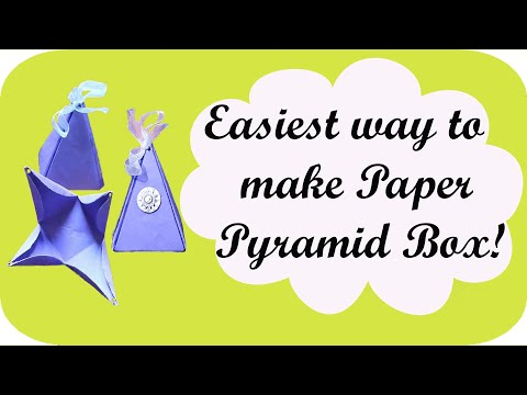 How to make paper Pyramid Gift Box | Easiest way!
