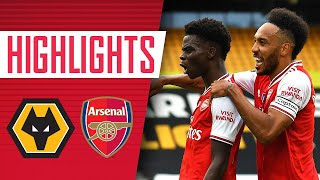 Saka And Lacazette Both Score! | Wolves 0 2 Arsenal | Premier League | Highlights