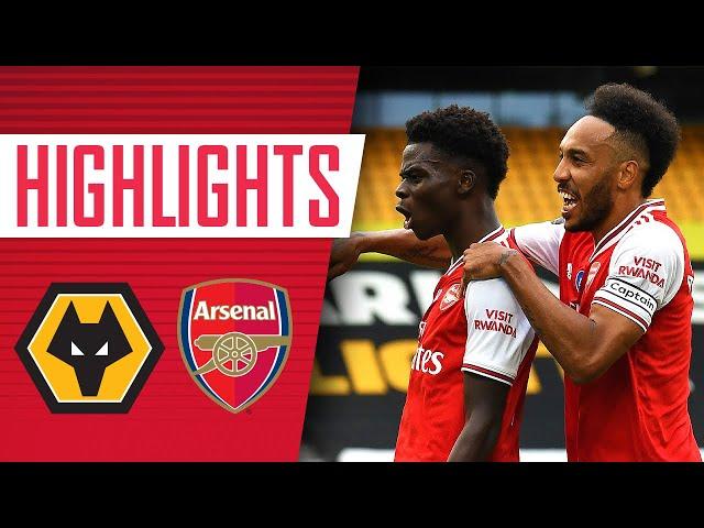 Saka and Lacazette both score!   Wolves 0-2 Arsenal   Premier League   Highlights - Arsenal