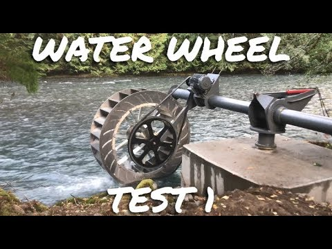 Innovative Poncelet Water Wheel 2017