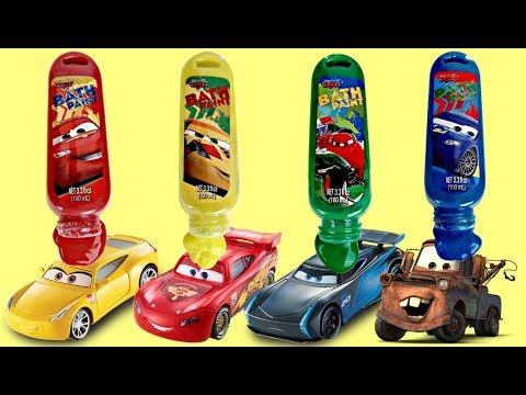 Thumbnail: Disney CARS 3 Bath Paint, Learn Colors Mix Change: Lightning Mcqueen, Cruz Jackson Blaze Toys TUYC