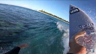 RAW POV ABSOLUTELY SCORING REMOTE ISLAND WAVE! GOPRO