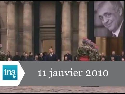 20h France 2 du 11 janvier 2010 - Obsèques de Philippe Séguin - Archive INA
