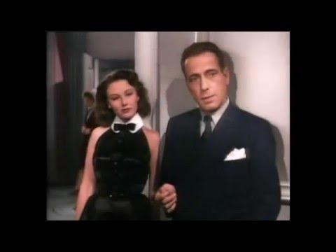 The Big Sleep (1946)  Humphrey Bogart  color scene.
