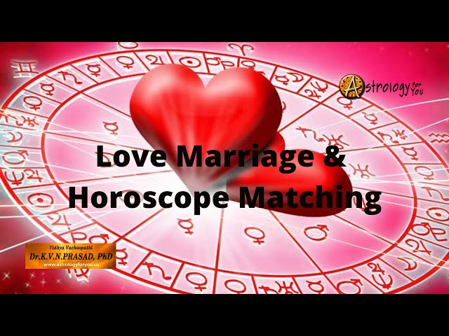 Horoscope Matching & Love Marriage
