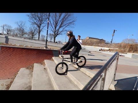 MATTY'S GIRLFRIEND RIDES A BMX BIKE FOR FIRST TIME!